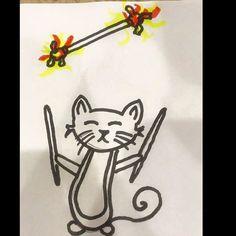 Devilsticking cat