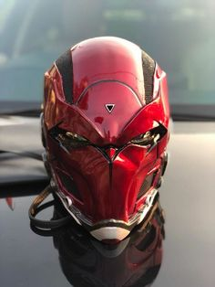 Futuristic Helmet, Futuristic Armour, Futuristic Motorcycle, Custom Motorcycle Helmets, Custom Helmets, Taktischer Helm, Red Hood Helmet, Airsoft Helmet, Cosplay Armor