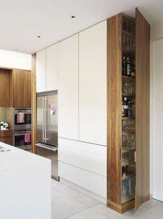 Kitchen Pantry Design, Modern Kitchen Cabinets, Modern Kitchen Design, Kitchen Layout, Home Decor Kitchen, Interior Design Kitchen, Kitchen Ideas, Diy Kitchen, Awesome Kitchen