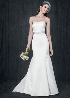 Strapless Trumpet Gown With Ribbon Waist Style AI10020405 from David's Bridal
