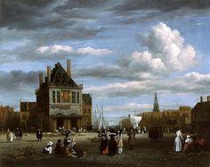 Рейсдаль, Якоб ван (1628-29-1682) - Соборная площадь в Амстердаме.