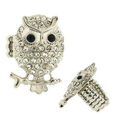 """**Coupon Code!** This darling owl ring is only $9.60! Plus, get 10% off your entire order & FREE shipping today with discount code """"save10"""" at checkout!"""
