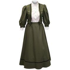 Ladies Edwardian Suit Olive