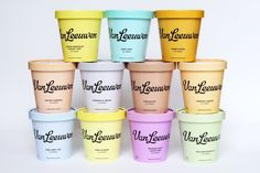 Van Leeuwen Artisan Ice Cream, Identity and Packaging on Behance Yogurt Packaging, Ice Cream Packaging, Food Packaging, Packaging Design, Packaging Ideas, Dessert Packaging, Product Packaging, Ice Cream Companies, Ice Cream Brands