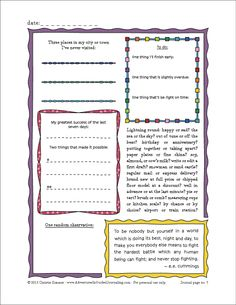 Adventures in Guided Journaling: New Printable Journal Page