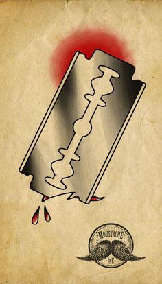 Lâmina old school Ilustração feita por mim.    Old school razor blade Ilustration by me