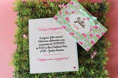 Peças gráficas para decoração de festa infantil no tema Flores/Jardim