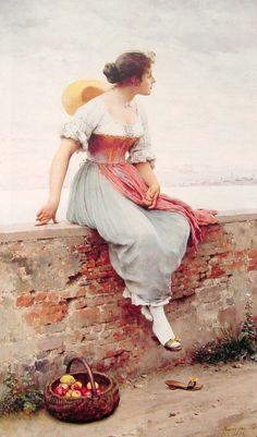 Eugene de Blaas - A Pensive Moment