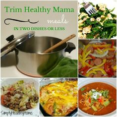 Trim Healthy Mama meals in two dishes or less - Simply Healthy Home