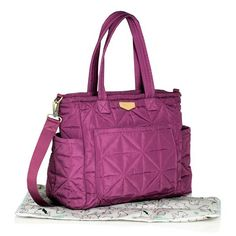 Perfect for the stylish on-the-go parent, the TWELVElittle Carry Love Tote Diaper Bag in Plum combines a fully functional design with a modern look. This lightweight, comfortable bag features multiple pockets that let you store and organize with ease. Baby Diaper Bags, All Toys, Kids Store, Carry On, Plum, Gym Bag, Accessories, Shoes, Baby Things