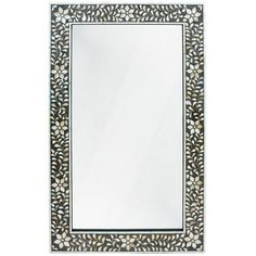 Charcoal Mother of Pearl Mirror