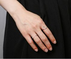 925 Sterling Silver bar and ball stacking Rings, Dash and Dot rings