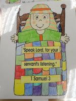 This would be an awesome craft if I can find a blank sheet. Hands On Bible Teacher: God Called Samuel Exploring Bible History Sunday School Activities, Sunday School Lessons, Sunday School Crafts, Preschool Bible, Bible Activities, Preschool Crafts, Preschool Christmas, Kids Christmas, Kids Crafts