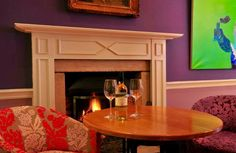 The perfect place to warm up after a day of bracing autumn breeze #DevonshireFell #Burnsall #Yorkshire #travel #autumn #fire #wine #BoltonAbbey #interiordesign #hotel #travel #fireplace