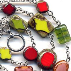 Christmas Color Necklace Strawberry Field Necklace by Annaart72, $35.00
