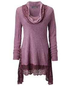 Joe Browns Longline Cowl Neck - gorgeous autumnal berry colour with an elegant cowl neck - fabulously flattering!