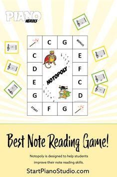 Notopoly - The Best Note Reading Game! Heroes Book, Reading Notes, Music Do, Piano Teaching, Good Notes, Elementary Music, Music Lessons, Reading Skills, Music Education