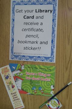 September is National Library Card Sign-Up Month! Get your first library card and then stop by in Youth Services to receive a certificate, pencil, bookmark, and sticker.