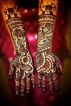 Traditional Rajasthani Mehndi Look