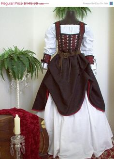 Holiday Sale Underbust Pirate Renaisssance Costume Other Fabrics And Colors Available