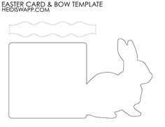 Easter Bunny Card Template! Free download #craft #easter
