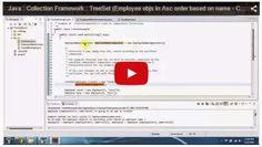JAVA EE: Java : Collection Framework : TreeSet (Employee objs in Asc order based on name - Comparator)