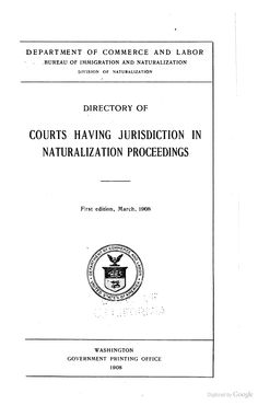 Directory of Courts Having Jurisdiction in Naturalization Proceedings