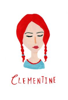 clementine / eternal sunshine of the spotless mind gouache painting