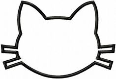 Cat Head  Blank  Applique  Machine Embroidery  6 by LilliPadGifts