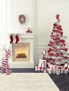 Zebra Fireplace Christmas Tree Photography Backdrops for Children no Crease Photo Studio Background Christmas Photography Backdrops, Christmas Backdrops, Christmas Photos, Christmas Themes, Holiday Decor, Christmas Gifts, Merry Christmas, Christmas Fabric, Christmas Photo Background