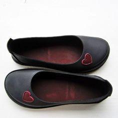 EDITH Lovehearts, Black, Berry via FAIRYSTEPS. Shoes. Accessories.