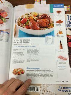 Hauts de cuisses de poulet sucrés et épicés Sans Lactose, Chicken Legs, Vinegar, Tops, Meal