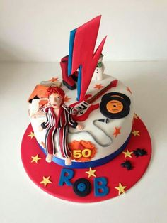 David Bowie themed cake