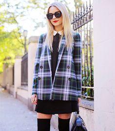 Blair Eadie of Atlantic Pacific does preppy fashion perfectly. Love this plaid blazer!