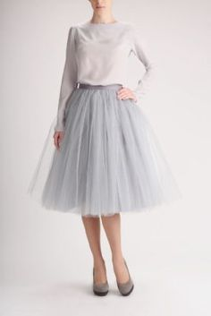 Tulle Midi skirt.. but diff shirt would be cute!