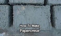How To Make Papercrete. Papercrete is the ultimate building material for preppers, homesteaders, and off grid living enthusiasts. Easy and cheap to make.