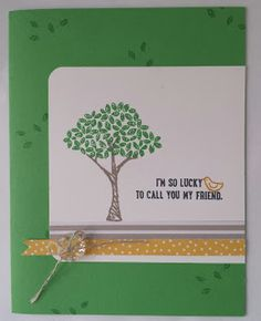 Lucky Friend Card using Stampin' Up stamp set Sprinkles of Life. By The Shore Stamping with Jen Pitta http://www.bytheshorestamping.com/2015/06/a-sunday-share.html