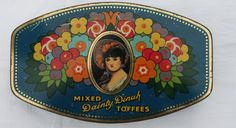 George W Horner, Dainty Dinah  Mixed Toffee Tin, Floral, Co Durham, England,