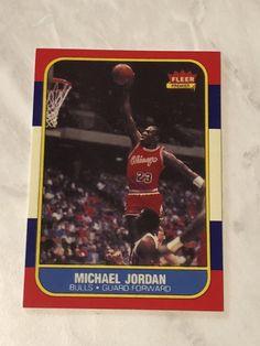 free shipping 7335e ad5fb MICHAEL JORDAN  57 1986-87 Fleer RC Rookie Card Reprint  Authentic