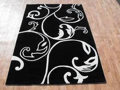 Black And White Rug You