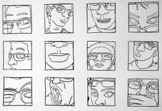 Self-Portraits: Line Thumbnails could make a good lino priint project