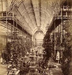 Interior view of Crystal Palace, Sydenham, c.1872