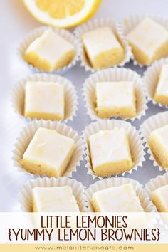 These little squares of lemony goodness are soft, chewy and the perfect lemon treat for anyone who appreciates a delicious lemon brownie!