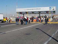 Se registra la presencia de manifestantes en accesos a la CDMX