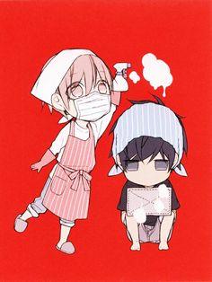 Ten Count | Tadomi Shirotani & Riku Kurose | Rihito Takarai | Chibis | Yaoi | Bl | Manga | Lockscreen
