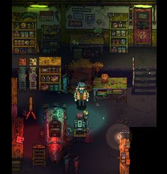 "pixpilgames: "" The Garage scene test. ( pixel art + deferred lighting ) """