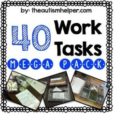 Independent Work System by theautismhelper.com