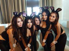 Thai Bunnies: Queen Nutcha Kruewan, จีจี้, Primrose Suchanya, Zu Sureeporn, & Arr Panicha Most Beautiful, Beautiful Women, City Of Angels, Asian Woman, Bangkok, Playboy, Cute Girls, Thailand, Nude