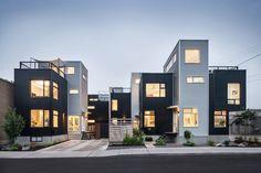 #colizzabruni #modern #hintonburg #infill #metalsiding #home #design #modernlandscaping #minimalist #ottawa #exterior