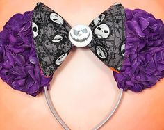 Nightmare Before Christmas: Jack Skellington Inspired Floral Mouse Ears